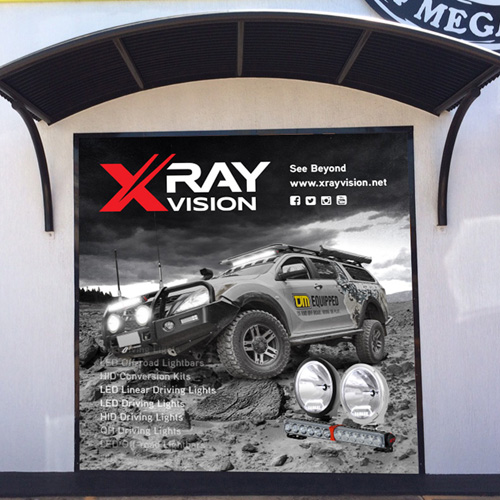 Xray Vision Window Signage