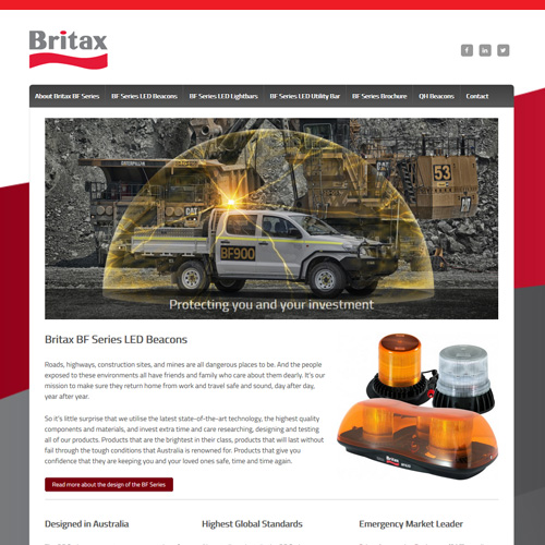 Britax Beacons Website
