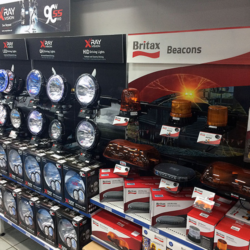 Beacons and Driving Lights Merchandising